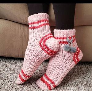 Pink Slipper Socks PRICE DROP